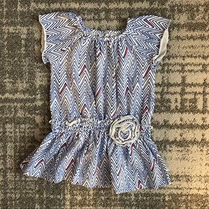 Rosie Pope baby girl chevron dress 12M